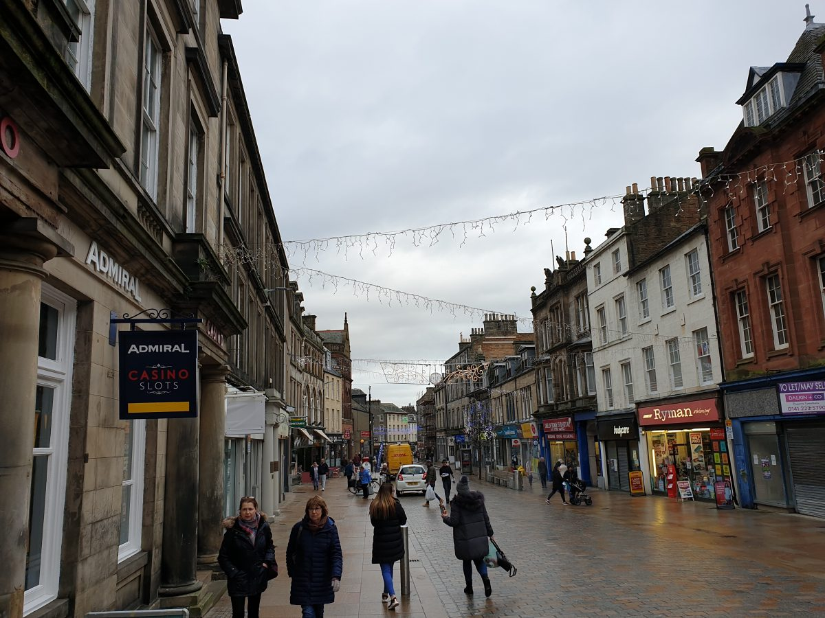 On Kirkcaldy High Street