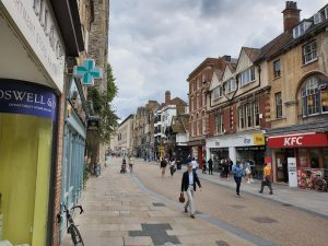 Oxford Cornmarket on reopening day